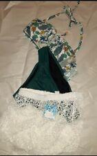 Coastal blue 3 pc swimwear set, size small