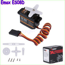 4x EMAX ES08D Plastic Digital Micro Servo for RC Helicopter Airplane