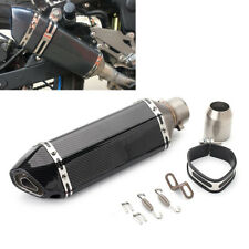 Universal Motorcycle Exhaust Mufflers Pipe Carbon Fiber Motorbike Accessories
