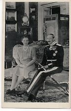 Vintage Postcard King Christian X and Queen Alexandrine of Denmark