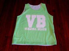 Men's New York Area Code 212 Virginia Beach Va Lime Green White Mesh Tank sz Xl