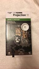 New Gemmy LED Light Show Projection White Skeletons Halloween Holiday