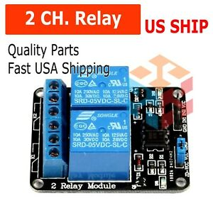 2 Dual Channel DC 5V Relay Switch Module for Arduino Raspberry Pi ARM AVR DSP