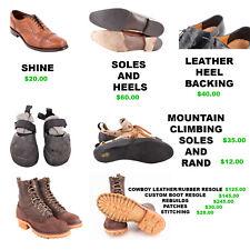 Boot/Shoe RESOLE Full Repair Service SHOE REPAIR BOOT REPAIR