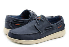 SKECHERS MEN'S RELAXED FIT MEOMORY FOAM CANVAS BOAT SHOES BROWN/ DENIM SIZE 8-13