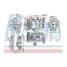 Fits Renault Megane MK3 1.6 16V Genuine Nissens A/C Air Con Compressor