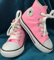 Converse All Star Hi High Top Shoes Sneakers Pink Infant Size 7 Chuck Taylor