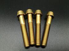 4pcs M6x35mm Taper Head Titanium / Ti Bolt Fit Headset Cap & Brake Mount Gold