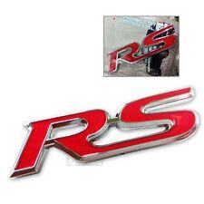 3D Metal RS logo Car RS Badge Emblem Deals Sticker For Racing Sport Red/Black