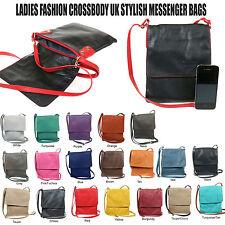 Ladies New Soft Italian Leather Flap Over Cross Body Messenger Bag F018S