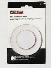 Delta Bath/Shower Non-Slip White Vinyl Shapes Self-Adhesive 10-Pk Brand-New