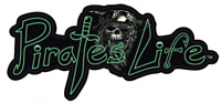 "Medium PIRATE'S LIFE brand Skull Bumper Sticker 6.5"" x 3"" Vinyl Decal"