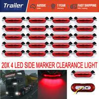 20x 12V 24V 4 LED Red Side Marker Clearance Light Lamp For Trailer Caravan Truck