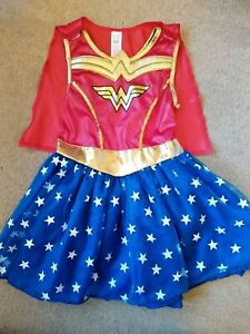 Girls Wonder Woman Dressing Up Costume age 5-6 years EXC