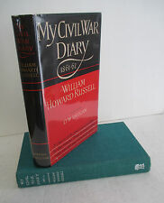 MY CIVIL WAR DIARY 1861-62 by William Howard Russell, 1954 in DJ, Illustrated