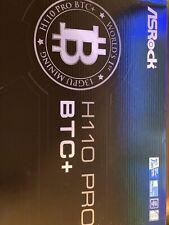 Asrock H110 Pro BTC+ Motherboard 13 GPU + 6 009s Riser