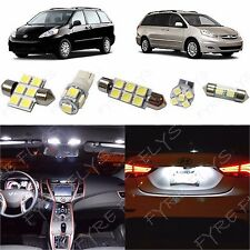 13x White LED lights interior package kit for 2004-2010 Toyota Sienna TS1W