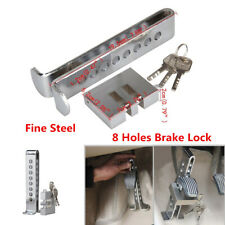 8 Hole Car Brake Clutch Pedal Lock Stainless Steel Anti-Theft Security Lock Tool