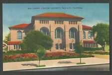 Ca 1935 Ppc Library At Stanford University Palo Alto Ca, Mint