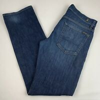 7 for all Mankind Standard Straight Leg Jeans Men's Size 32 Dark Wash Button Fly