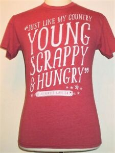 Young Scrappy & Hungry HAMILTON Creative Goods T-shirt, S