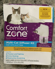 Comfort Zone Calming Diffuser Kit for Multiple Cats - 1 Diffuser + 1 Refill