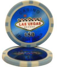 100pcs Las Vegas Laser Casino Clay Poker Chips $50