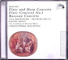 Christopher Hogwood: MOZART Flute Harp Bassoon Concerto CD Lisa Beznosiuk Kelly