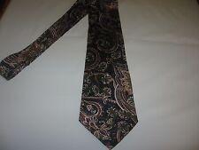 CROSSBOW TIE 60 x 3.75 Black Beige Green SILK Necktie (12890) Free US Ship
