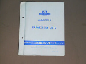 Hercules K103 S  Ersatzteilliste