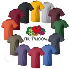 Fruit of the loom Men's Hd Cotton Plain Crew Neck Short Sleeves T-Shirt 3930R