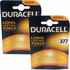 2 x Duracell 377 AG4 SR66 SR626SW Watch Batteries