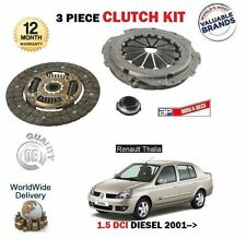 FOR RENAULT THALIA 1.5 DCI 2001-->NEW 3 PIECE CLUTCH KIT PLATE COVER BEARING SET