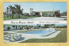 FL Delray Beach 1950-60s postcard SUN N BREEZE MOTEL 4340 S FED HIGH B J Kovach