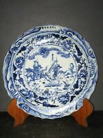China antique porcelain Ming Xuande Blue and white Hand drawn character story B