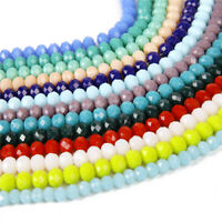 Wholesale 2/3/4/6/8/10mm Rondelle Faceted Crystal Glass Loose Spacer Beads Sd