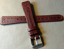New Timex Expedition 14mm Watch Band Silver Tone Buckle Stonewashed Burgundy Red