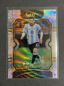 Lionel Messi 2017-18 Panini Select Equalizers Silver Wave Prizm # EQ-26 SP