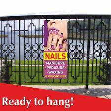 Nails Banner Vinyl Mesh Banner Sign Manicure Pedicur Spa Beauty Salon Waxing