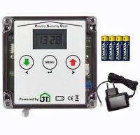 automatische Hühnerklappe PSD für Batterie- oder Netzteilbetrieb, Anlocklicht