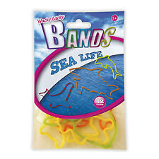 Kids Elastic Bands Wacky Lacky Fun Party Toy Shapes Childrens Sea Life 12 Pack