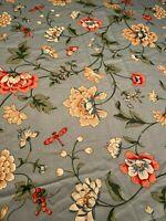 Waverly Enchanted Garden Schumacher Glosheen Blue Cotton Floral 15 Yards VTG