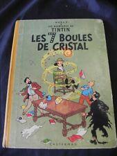 album tintin hergé les 7 boules de cristal 1960 - 1961 b29 bord jaune