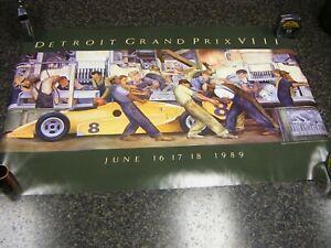 "1989 Detroit Grand Prix VIII Race Poster 36"" x 24"""