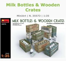 MiniArt Mini Art 35573 1:35 Milk Bottles E Wooden Crates Model Kit