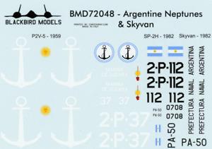 Argentine Neptunes & Skyvan 1/72nd scale decals