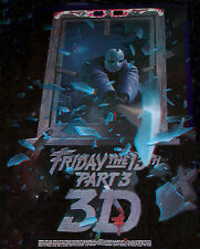 Friday The 13th 3-d Anaglyph Poster - Old Stock