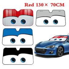 Cartoon Car Windshield Visor Cover Front Rear Window Sun Shade Cover Red Big Eye