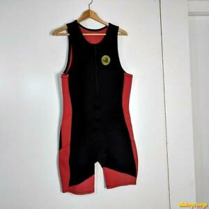 BODY GLOVE Wetsuit Shorty 2.2 mm Wet Suit Mens XL black/red neoprene sleeveless