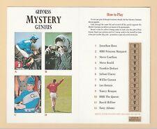 ADVERTISING  -  GUINNESS   MYSTERY  GENIUS  FOLDING  CARD  (E)